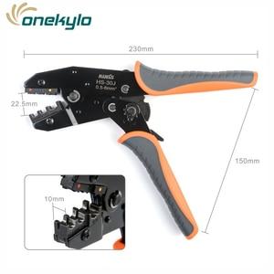 Image 4 - IWISS IWS 30J 0,5 6mm ² alicate crimpador de engaste Multi herramientas de mano aislamiento de anillo y terminales de pala herramienta de engaste de 9 pulgadas