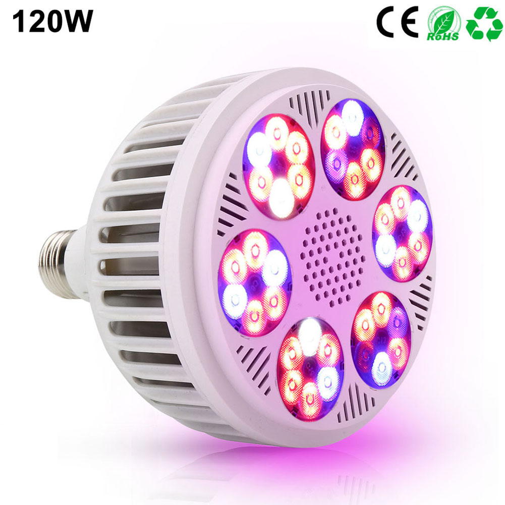 120W E27 Energy Saving Garden Flower Hydroponic Vegetable Greenhouse Indoor Easy Install Grow Light Full  LED Bulbs