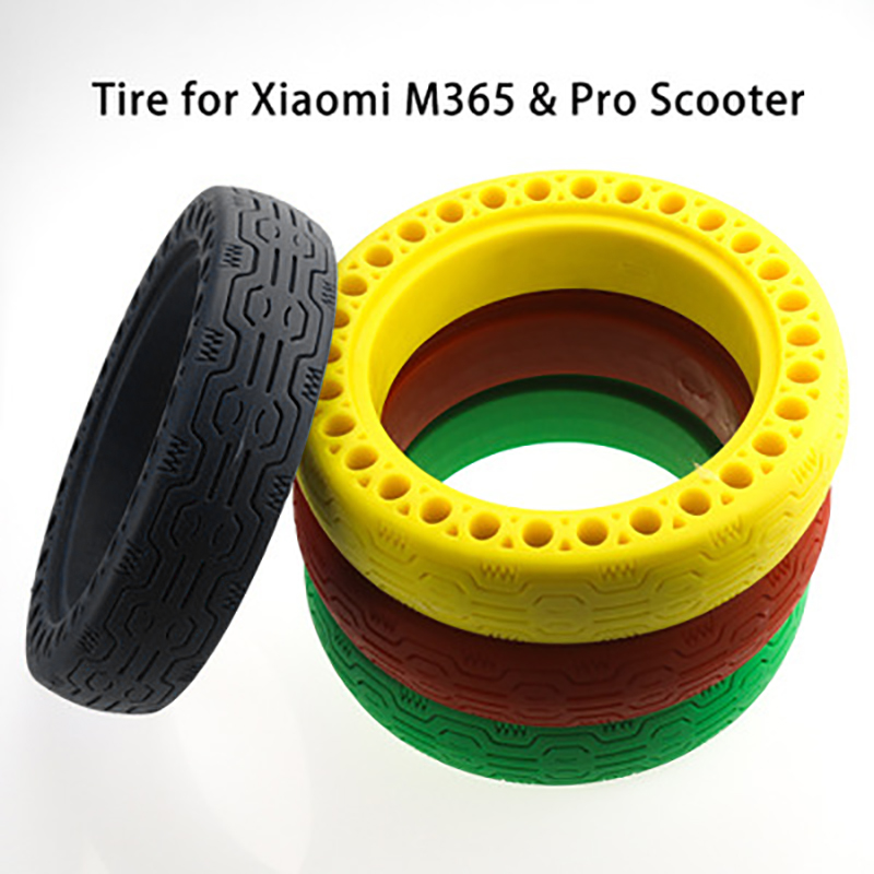 """Xiaomi M365 Pro Scooter Solid Rear 8.5/"""" Tire Non-Pneumatic Honeycomb Tire Red"""