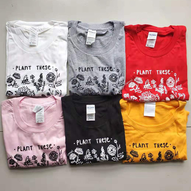 Plant These Harajuku Tshirt Women Causal Save The Bees T-shirt Cotton Wildflower Graphic Tees Woman Unisex Clothes Drop Shipping 20