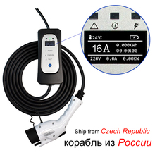 Electric car charger J1772 Type 1 EVSE EV charging cable 16A  EU Plug for Electric vehicle