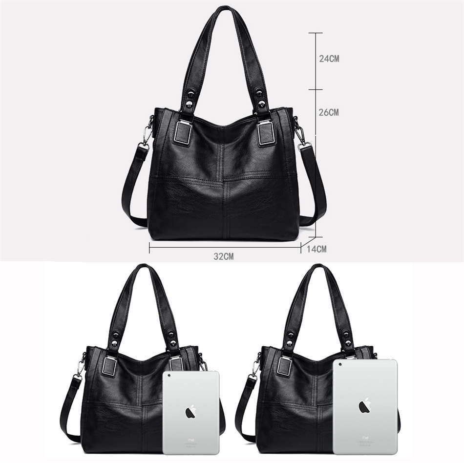 Leather Luxury Handbags Women Bags Designer Handbags Ladies Shoulder Hand Bags For Women 2019 Large Casual Tote Sac Bolsa Femini 3