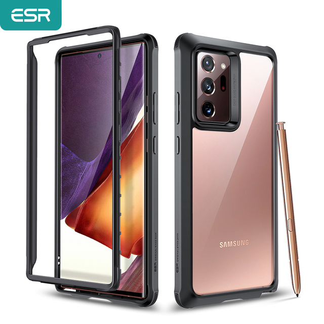 ESR Phone Case for Samsung Galaxy Note 20 Ultra 5G Full Protection Cover Hard Frame+Clear Back Case with Bumper Bundle Case