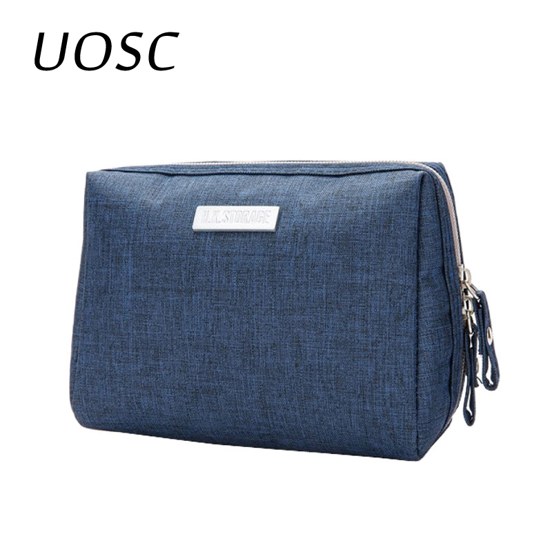 UOSC Cute Cosmetic Bag Women Necessaire Make Up Bag Travel Waterproof Portable Makeup Bag Toiletry Bags Polyester Zipper Pouch