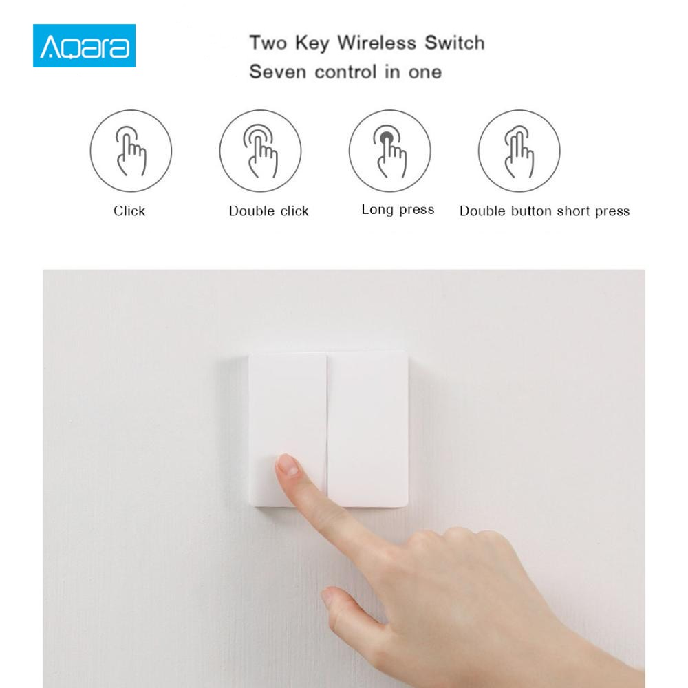 Aqara Wireless Remote Switch Smart Light Switch Wireless Version Double Key International Edition