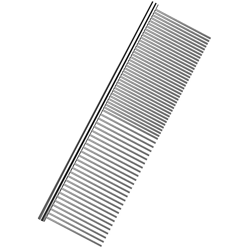 Pet Dematting Comb - Stainless Steel Pet Grooming Comb For Dogs And Cats Gently Removes Loose Undercoat, Mats, Tangles And Knots