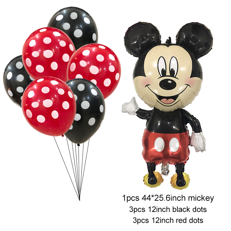 """12/"""" inch POLKA DOT /& 18/"""" inch MINNIE MOUSE FOIL BALLOONS Mickey Mouse baloons"""
