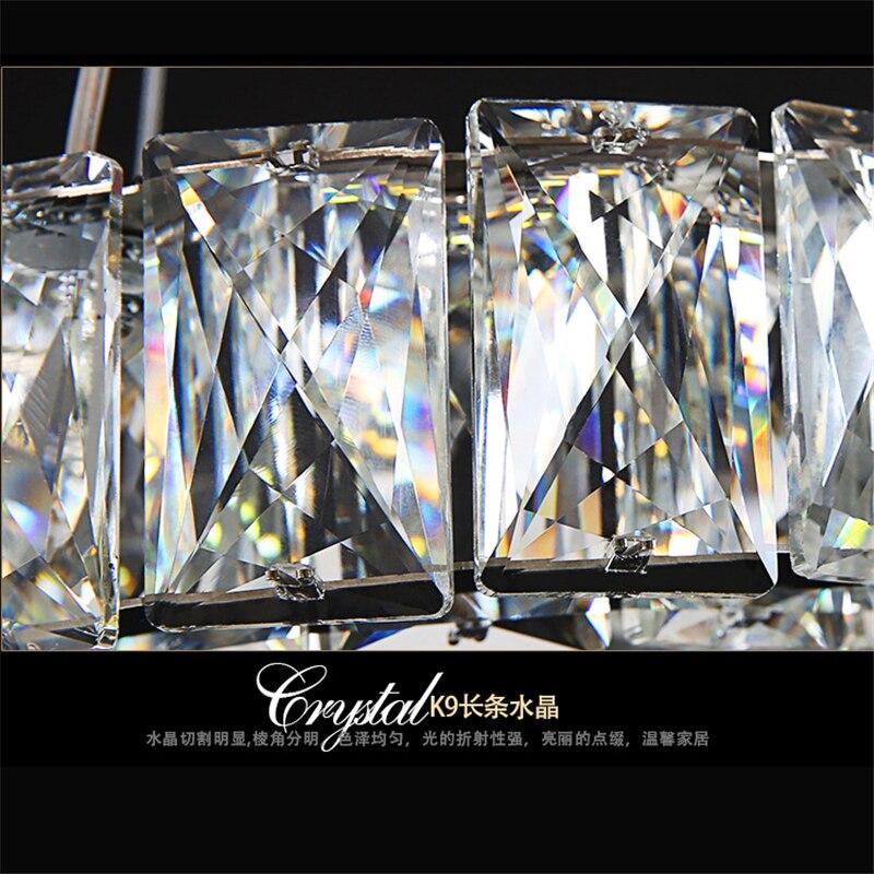 Cristal bougeoir luxe argent jardin cristal LED lustre lumière lustre lampe luminaire moderne lustre éclairage - 5