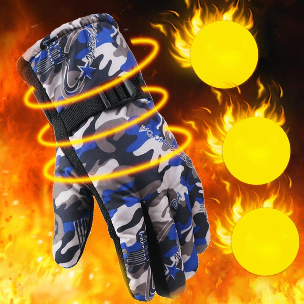 Men Winter Velvet Gloves Non-Slip Warm Outdoor Driving Thickening Plus Gloves Female Warm Gloves Winter Casual Fashion Mittens
