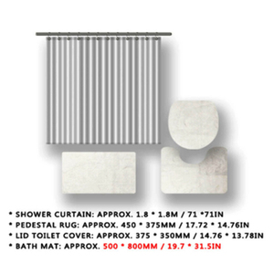 Image 5 - NYAA 4 Pcs 미니 & 미키 샤워 커튼 페데 스탈 깔개 뚜껑 화장실 매트 욕실 매트 세트 욕실 장식