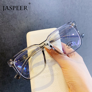 JASPEER Anti Blue Light Frame Women Men Eyewear Square UV400 Anti Eyestrain Eye Glass Ladies Transparent Optical Myopia Frames