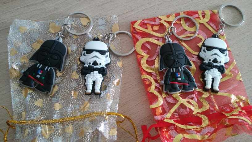 1pcs Star Wars พวงกุญแจอะนิเมะ PVC Key Ring Yoda R2D2 BB8 พวงกุญแจแฟชั่น Key ผู้ถือ Chaveiro เด็ก Xmas ของขวัญ Party Favor