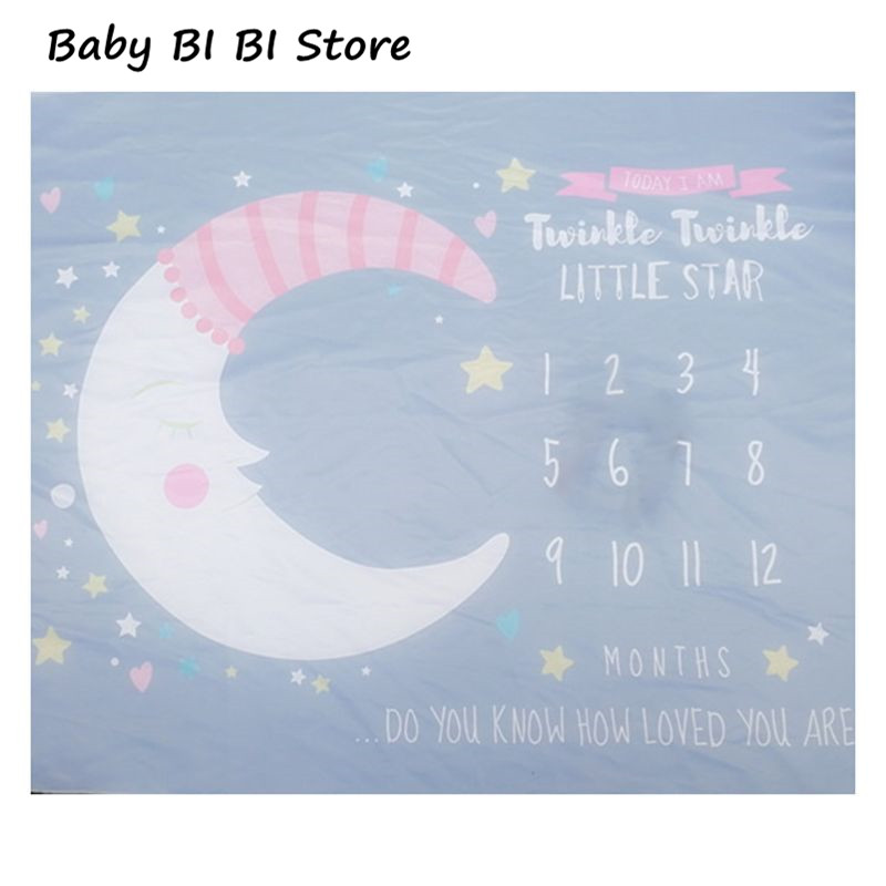 Baby Newborn Milestone Blanket Photo Background Cloth Male And Female Infants Children Room Photography Props