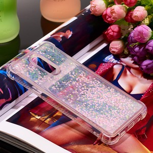 Image 3 - Liquid Quicksand Phone Cases For LG K40 K12 Plus Case Cover For LG Stylo 5 Luxury Glitter Bling Sequin Soft TPU Funda Coque Gift
