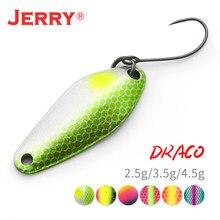 Jerry draco ul metal de água doce colher isca de pesca jigging iscas 2.5g3.5g4.5g girador artificial iscas duras para truta baixo