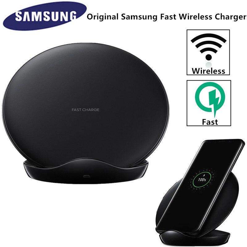 Cargador inalámbrico rápido Original Samsung Qi para Galaxy S10 S9 S8 Plus Note 10 + 9/iPhone X XR XS/8/Smart Pad EP-N5100
