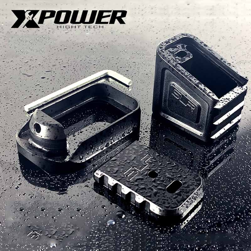 XPOWER SLR Magazine Mag Well Butt Plate CNC Alumium Alloy Paintball Accessories Airsoft