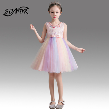 Elegant Pink Flower Girl Dress for Weddings HT184 Embroidery Lace Train Pageant Dresses for Girls Back Bow Flower Girl Ball Gown 2015 elegant a line and knee length flower girl dresses for weddings layered and unique handmade flower design