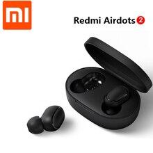 Xiaomi Redmi AirDots 2 הגלובלי & סיני גרסה פיגור נמוך מצב שמאל ימין TWS Bluetooth אוזניות אלחוטי אמיתי סטריאו אוטומטי קישור