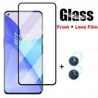 2 in 1 Kamera Objektiv Film Gehärtetem Glas Für OnePlus 9R 9 9E Volle Abdeckung Screen Protector Für OnePlus 9E 6 6T 8T Schutz Glas