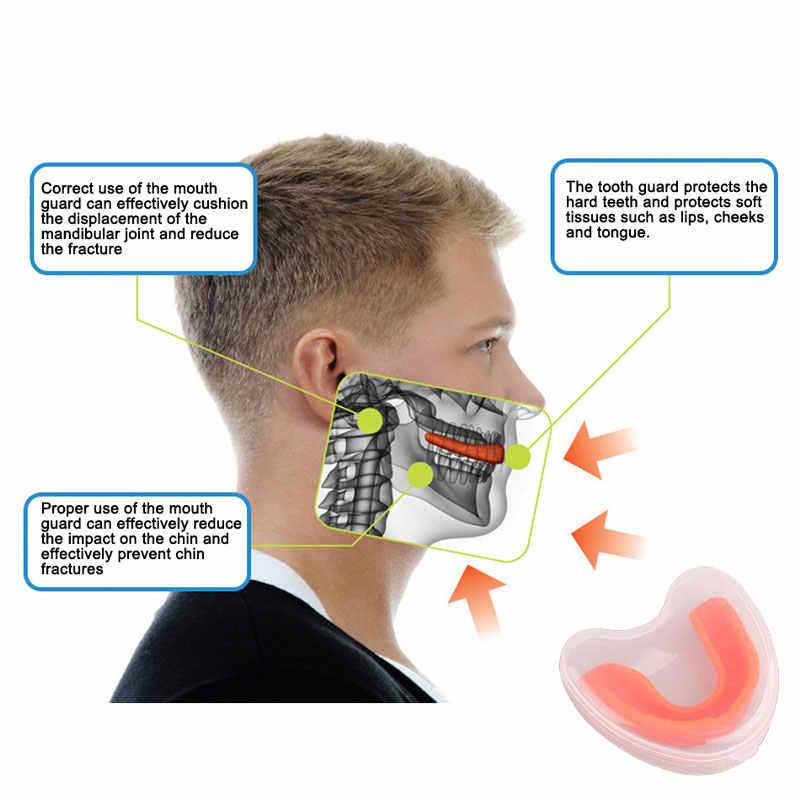 2019 Popular brackets de boxeo dientes guardia de noche bruxismo protector de boca Dental Goma de dormir dientes molienda para baloncesto Rugby Karate