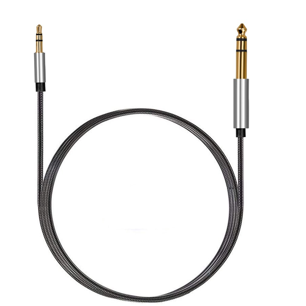 Jack 6.35mm To 3.5mm Adapter Audio Cable For Mixer Amplifier Speaker Gold Plated 6.5mm 3.5 Jack Splitter Audio Cable