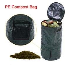 2 размера органические отходы кухня Сад Двор мешок для компоста окружающей среды из полиэтиленовой ткани Плантатор кухня утилизация отходов органический мешок для компоста