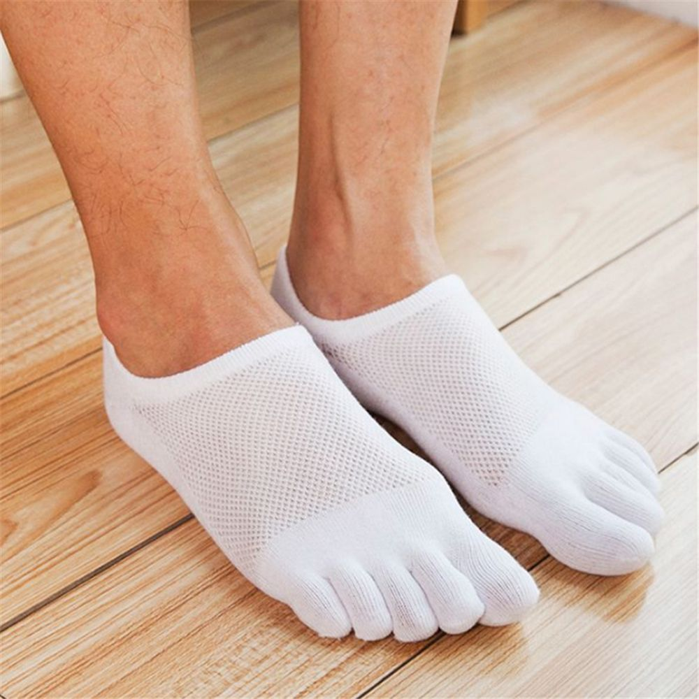 1 Pair Men's Five Finger Toe Ankle Socks Men Fashion Breathable Cotton Casual Sports Nonslip Socks Short Invisible Socks