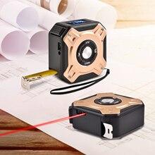 Laser-Measuring-Tape Digital LCD Display 2-In-1 Rangefinder Area-Volume Multi-Function