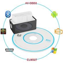 Bluetooth OBDII 2 ELM327 V2.1 רכב סורק כלי אבחון עבור טויוטה קורולה Vios רייז RAV4 Avensis CHR קאמרי פריוס Aurion יאריס