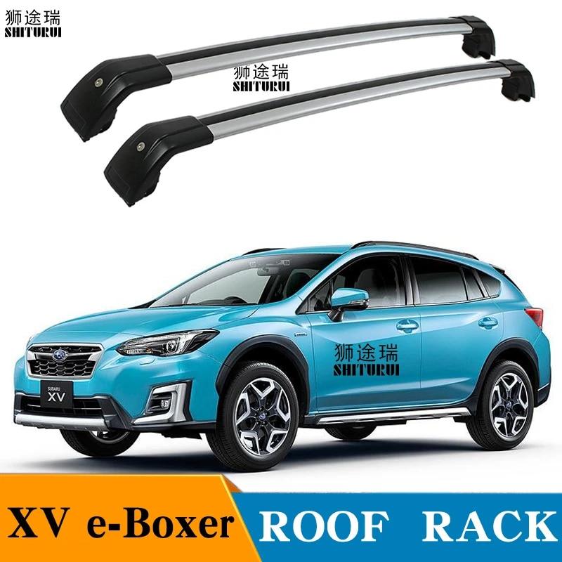 shiturui 2pcs roof bars for subaru xv e boxer suv 2019 aluminum alloy side bars cross rails roof rack luggage carrier