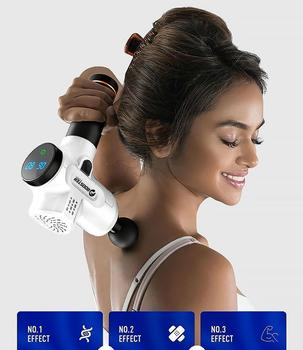 Booster Electronic Therapy Body Massage Gun Low Noise Vibrating Massager Therapy Pain Relief Fascia Gun Muscle Stimulator