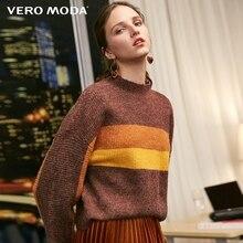 Vero Moda свитер женский женский свободный свитер в полоску с открытыми плечами | 318413531