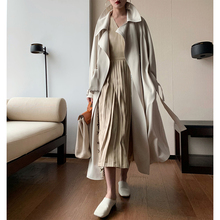 The new British style workwear casual knee-length loose trench coat women
