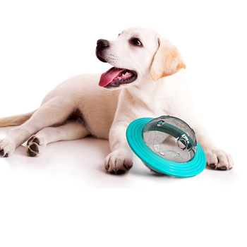 Pet Toys Dog Frisbee Toy Cats Dogs Leakage Food Flying Saucer Interactive Cat Teething Training Balls