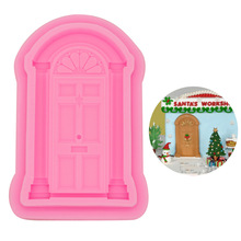 1PC Cross-border for European-style door frame, frame window, fondant cake decoration, silicone mold, baking decorationA117