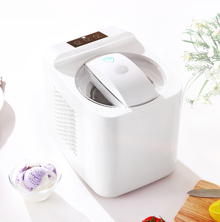1L Automatic and Intelligent Mini Ice Cream Maker for Household to Prepare Delicious Ice Cream and Sorbet