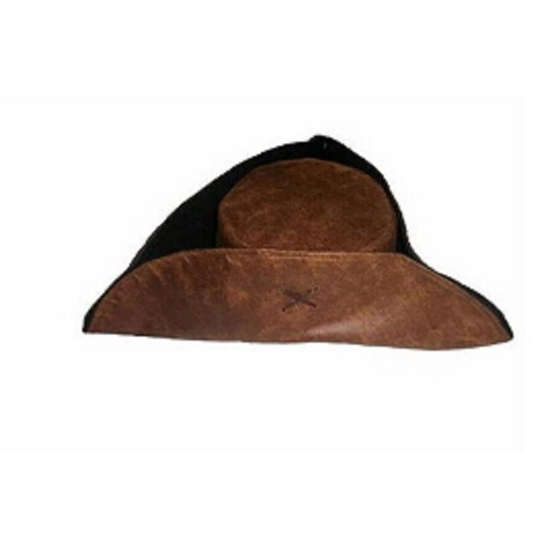 Pirates Of The Caribbean Costume Pirate Captain Jack Sparrow Cosplay Triangle Hat Faux Leather Tricorn Cap Halloween Party Props