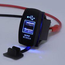 Chargeur à bascule rétroéclairé 12 24V, bleu LED, interrupteur à bascule, pour Polaris RZR Ranger 900, 1000, RZR900, John Deere Gator XUV, pour Kawasaki