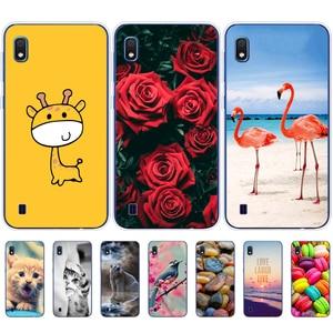 Image 2 - Sprawa dla Samsung A10 przypadku miękkiego silikonu tylna pokrywa etui na telefony dla Samsung Galaxy A10 GalaxyA10 A 10 SM A105F A105 A105F cartoon