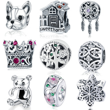 Natsuki Hot Sale 925 Sterling Silver Missing Round Dream Cather Charms Beads fit Original Pandora Bracelet Charms Jewelry