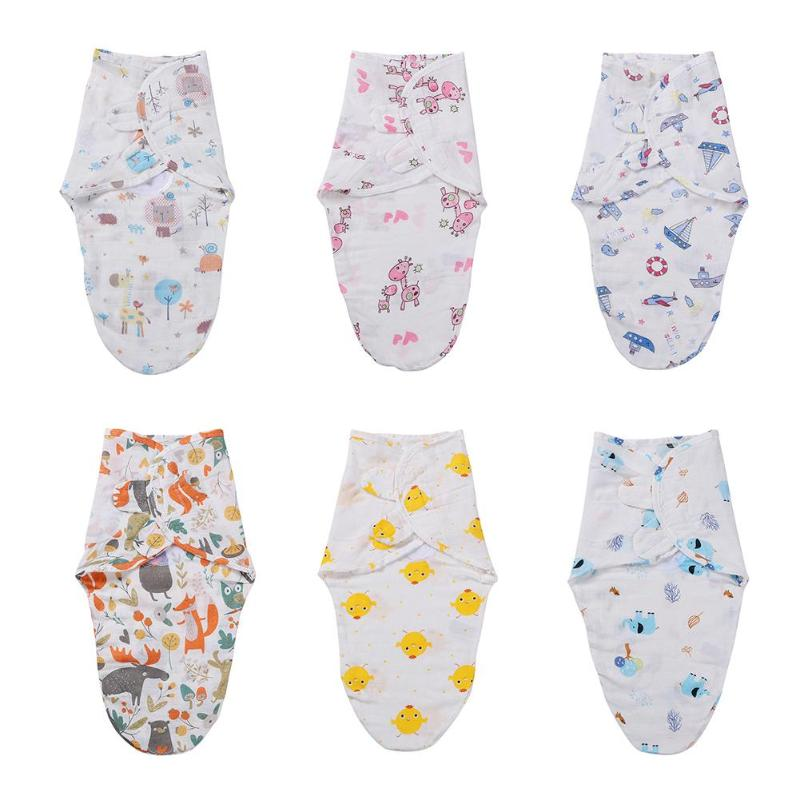 Newborn Baby Swaddles Wrap Cotton Soft Infant Boys Girls Bedding Blanket Towel Scarf Sleeping Swaddling For 0-3 Month