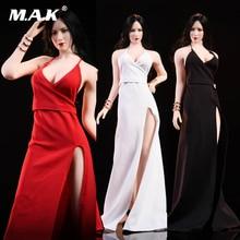 TOYS C1901 1/6 Scale Ada Wong dress set Model Dress red carpet evening Fit Female Body Woman Head Sculpt