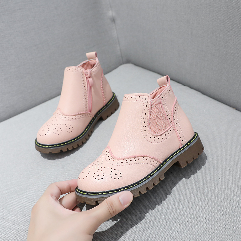 Teen Kids Toddler Baby Girls Bling Leather Martin Shoes Anti-Slip Rubber Sole Zipper Bootie Boots 1-6 Years