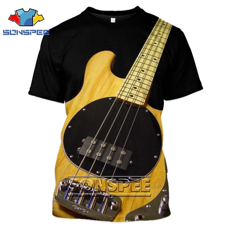 Fashion T-shirt 3D Men/women Funny Hip Hop Guitar Bass Tshirt Print Streetwear Music Top Suit Kids T Shirt Harajuku Shirts Anime