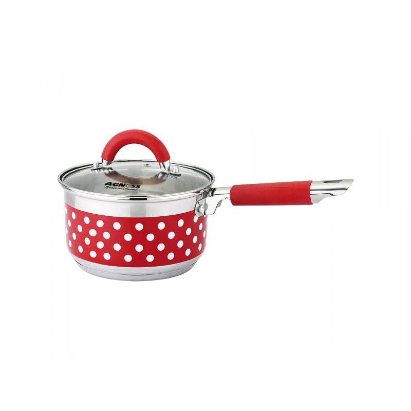 Ladle AGNESS, Polka Dot, 1,9 L, silicone handle tie neck polka dot top