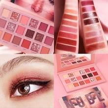18 cor brilhante sombra pérola maquiagem brilho pigmento smoky sombra de olho pallete à prova dtágua cosméticos de longa duração tslm2