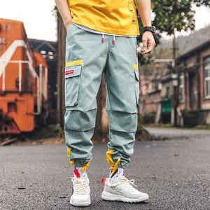 Image 5 - SingleRoad pantalon Cargo pour hommes, style Hip Hop Harem, à poches latérales, Streetwear, années 2020, à la mode, collection survêtement, pantalon de survêtement décontracté