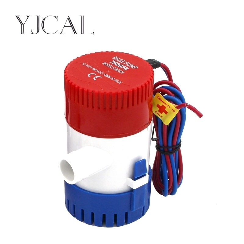 Bilge Pump 350 500 750 1100GPH DC 12V 24V Electric Water Pump High Flow Submersible Seaplane Motor Homes Houseboat Boats