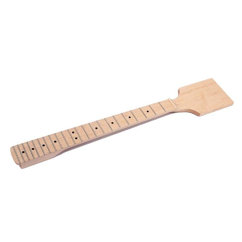 일렉트릭 기타 패들 넥 22 프렛 미완성 DIY 부품 클리어 새틴 볼트 패들 헤드 스톡